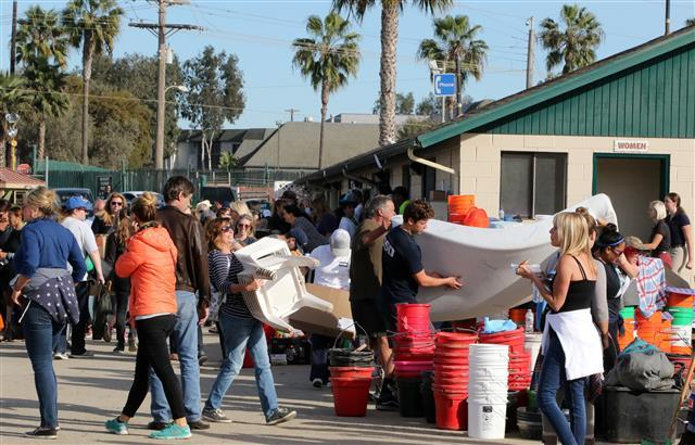 Donations for San Luis Rey evacuees.