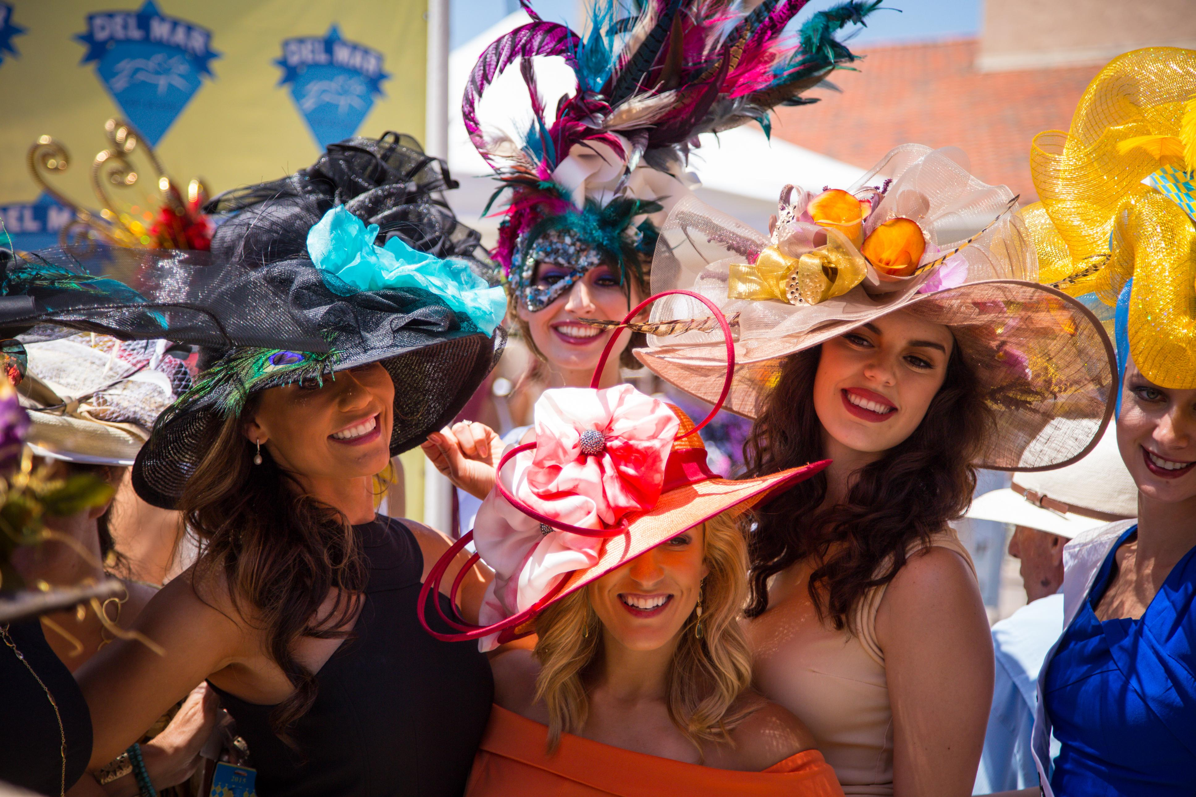 Hats from Del Mar's contest.