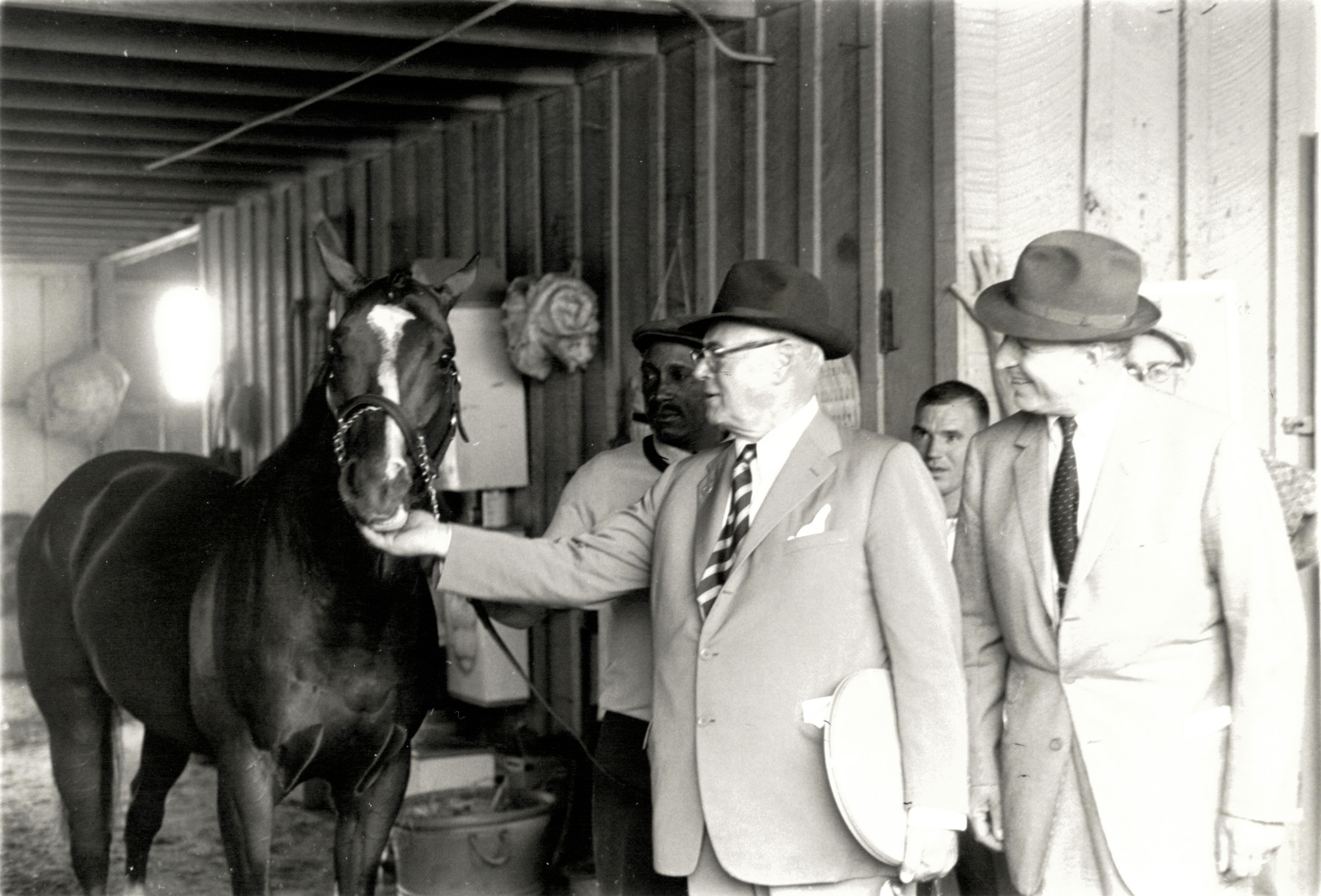 Taylor with Northern Dancer after the Preakness
