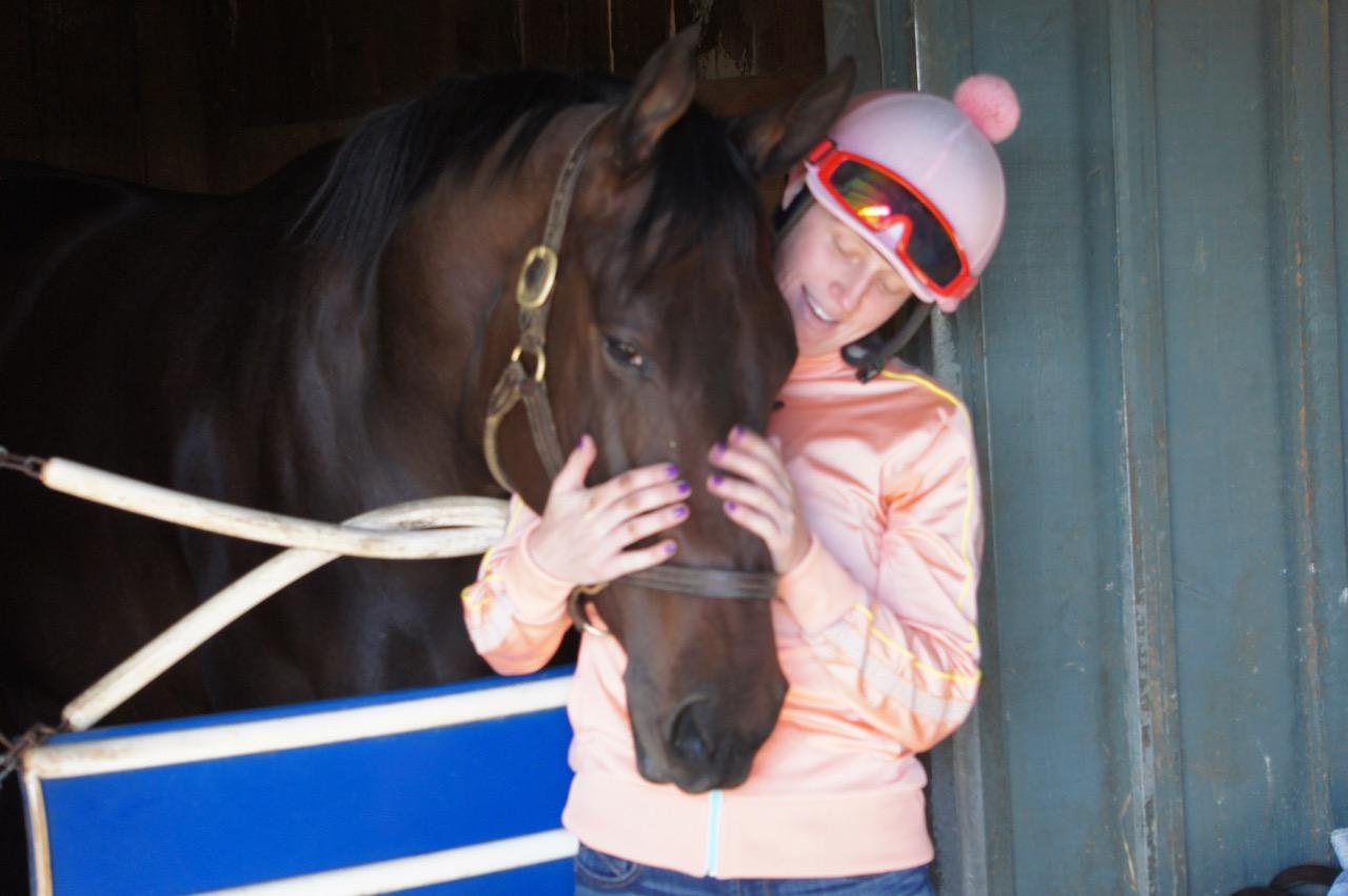 Erin with 2-year-old filly Ever So Special