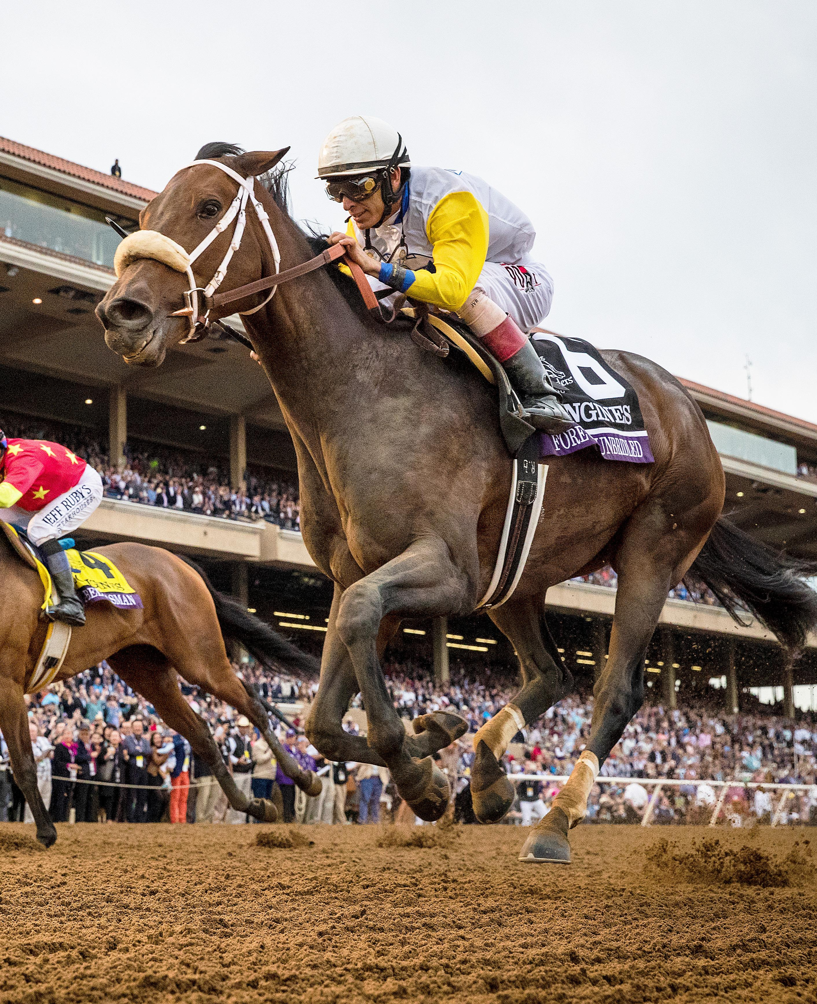 Forever Unbridled wins the Distaff.
