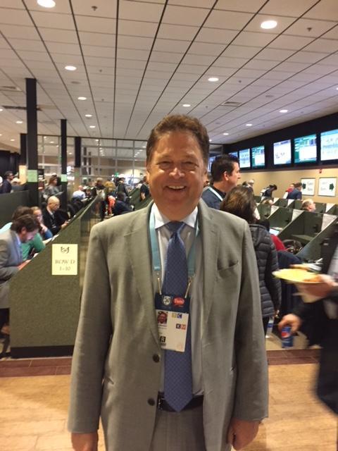 Gluckson in the 2017 Kentucky Derby media room.