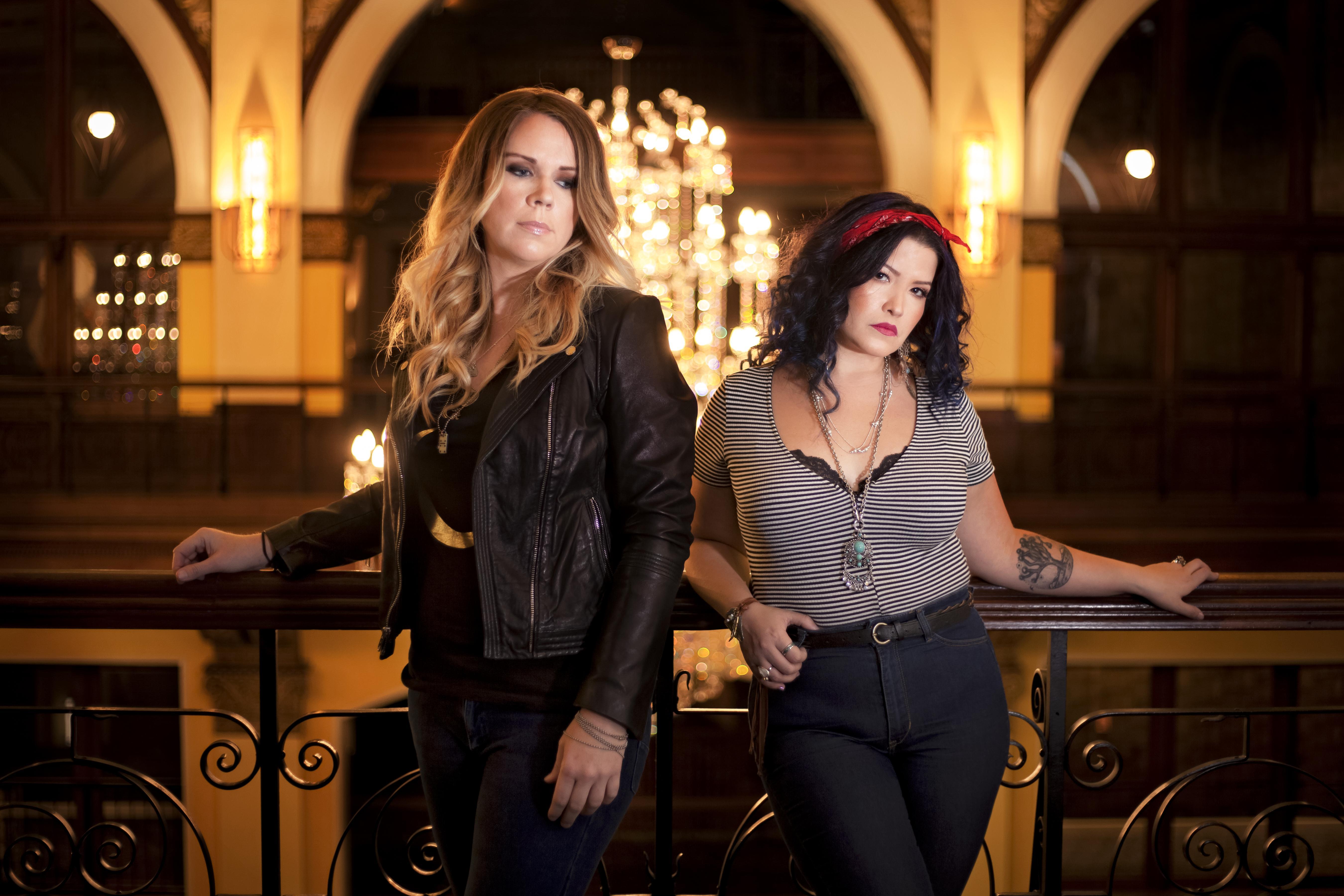 Elkins and duo partner Vanessa Olivarez