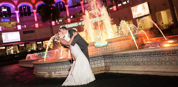 Gulfstream Park racetrack wedding