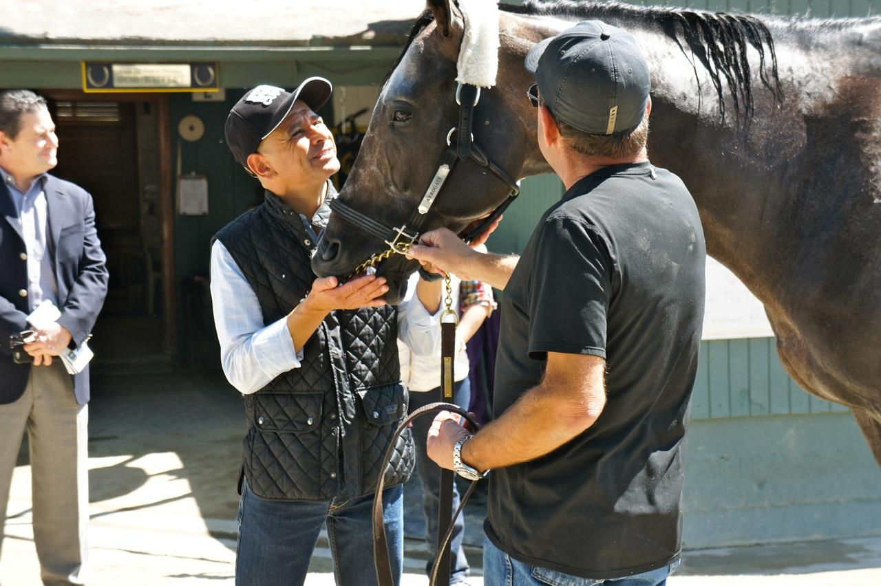 Mike Smith shared a special moment with Arrogate.