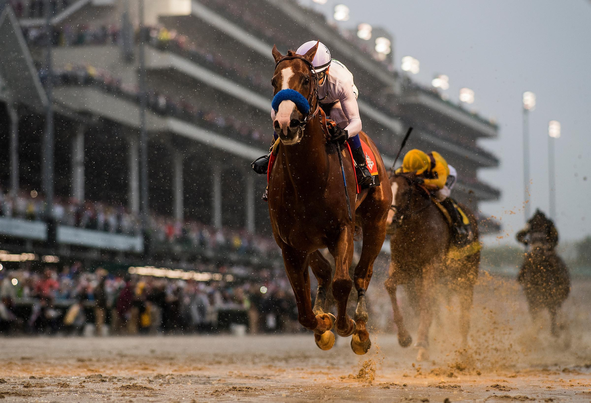 Justify wins the Kentucky Derby in the slop