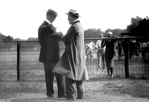 Keene (right) with Harry Payne Whitney.