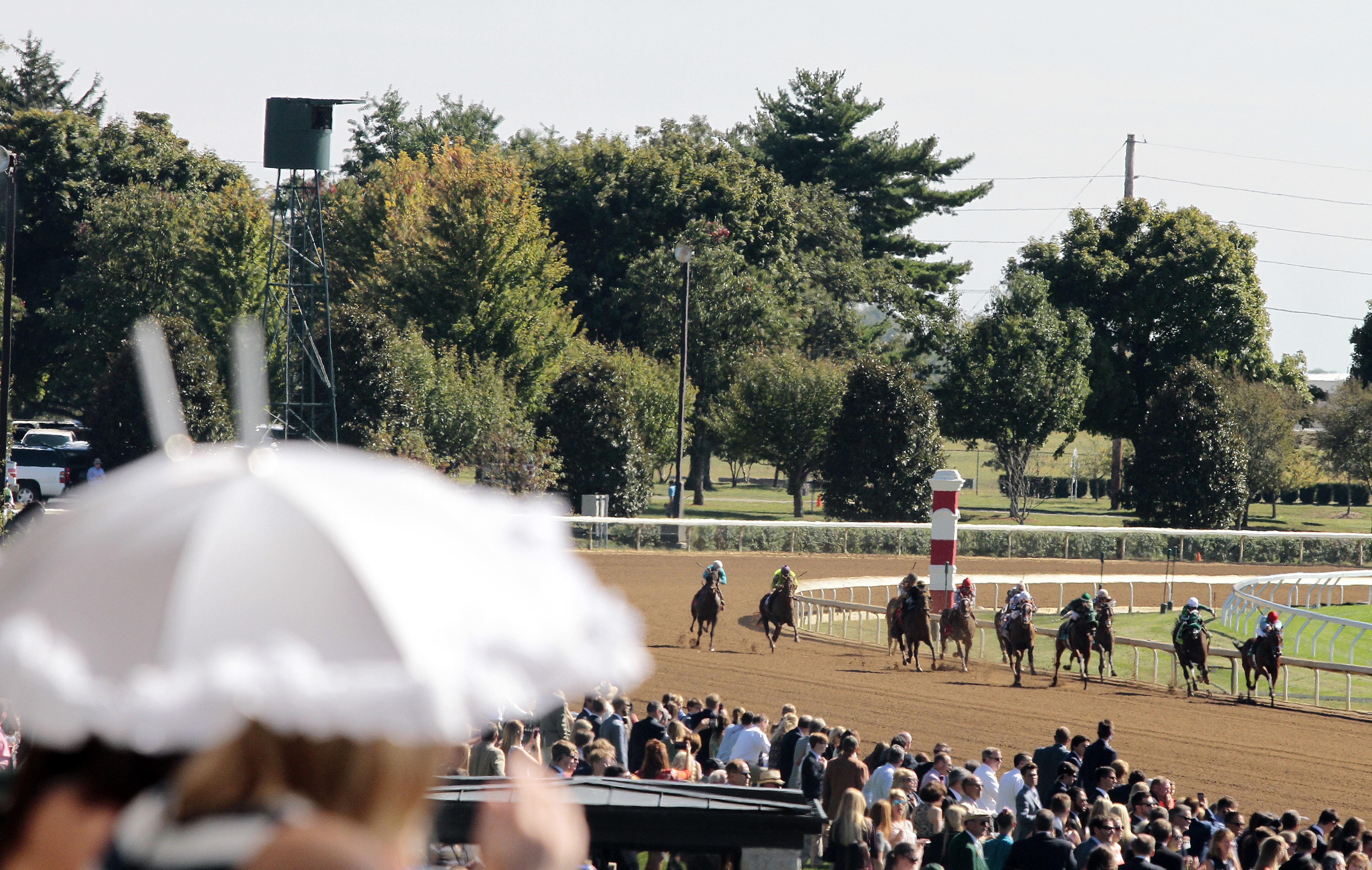 Racing at Keeneland.