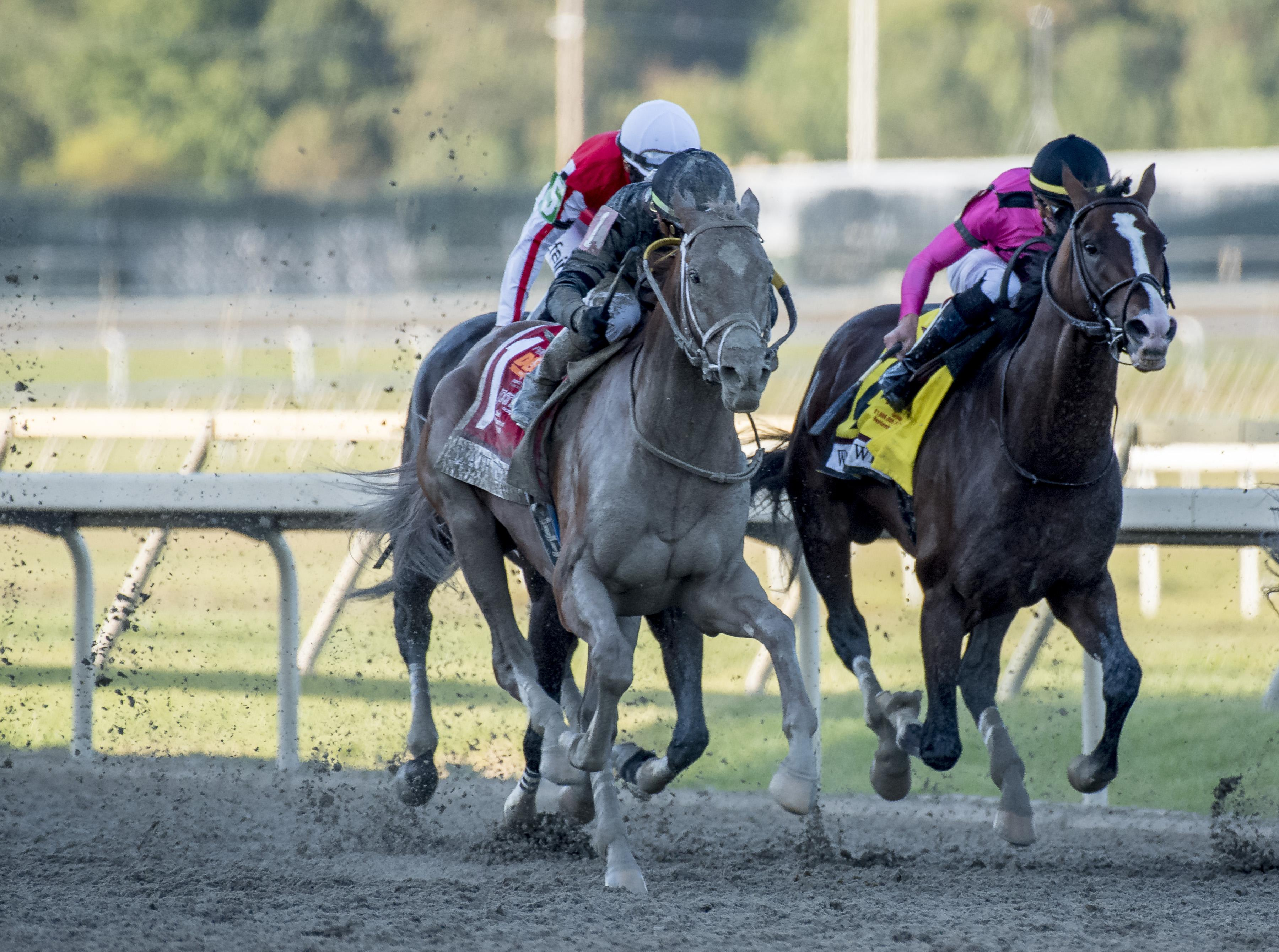 Math Wizard wins the Pennsylvania Derby