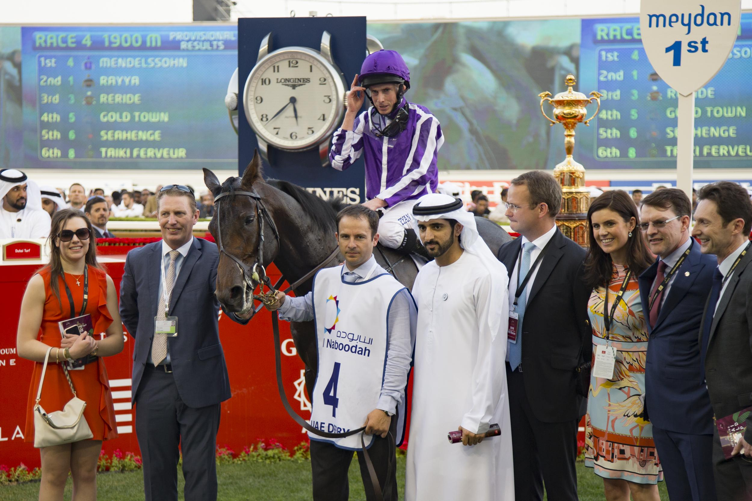 Mendelssohn and connections in the Meydan winner's circle.