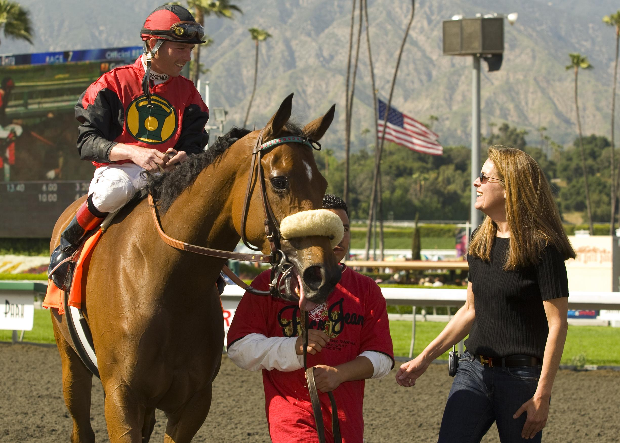 Sahadi and Gotta Have Her after winning the 2009 Las Cienegas.