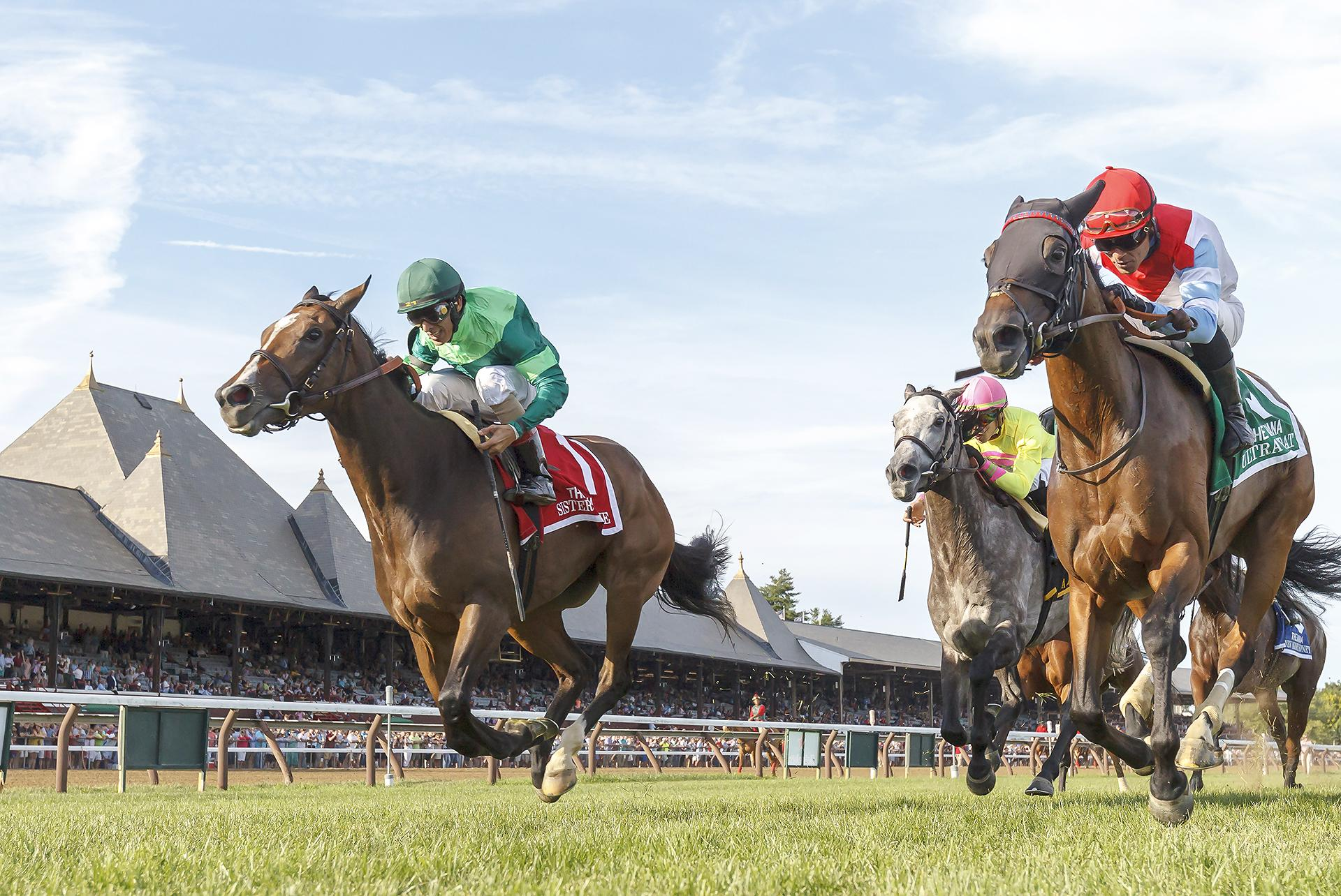 Sistercharlie and Ultra Brat gave fans an exciting finish at Saratoga.