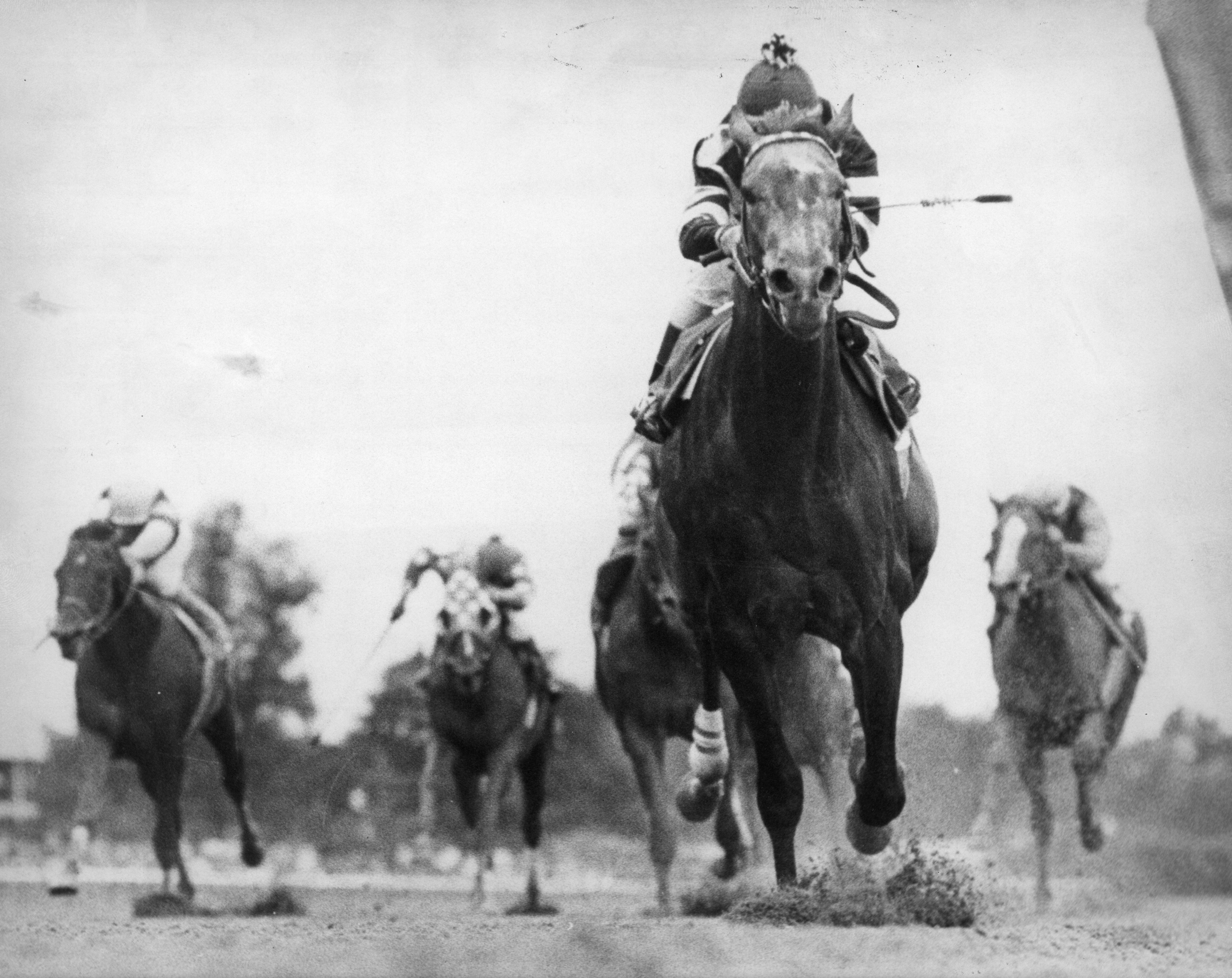 Spectacular Bid wins the 1979 Marlboro Cup.