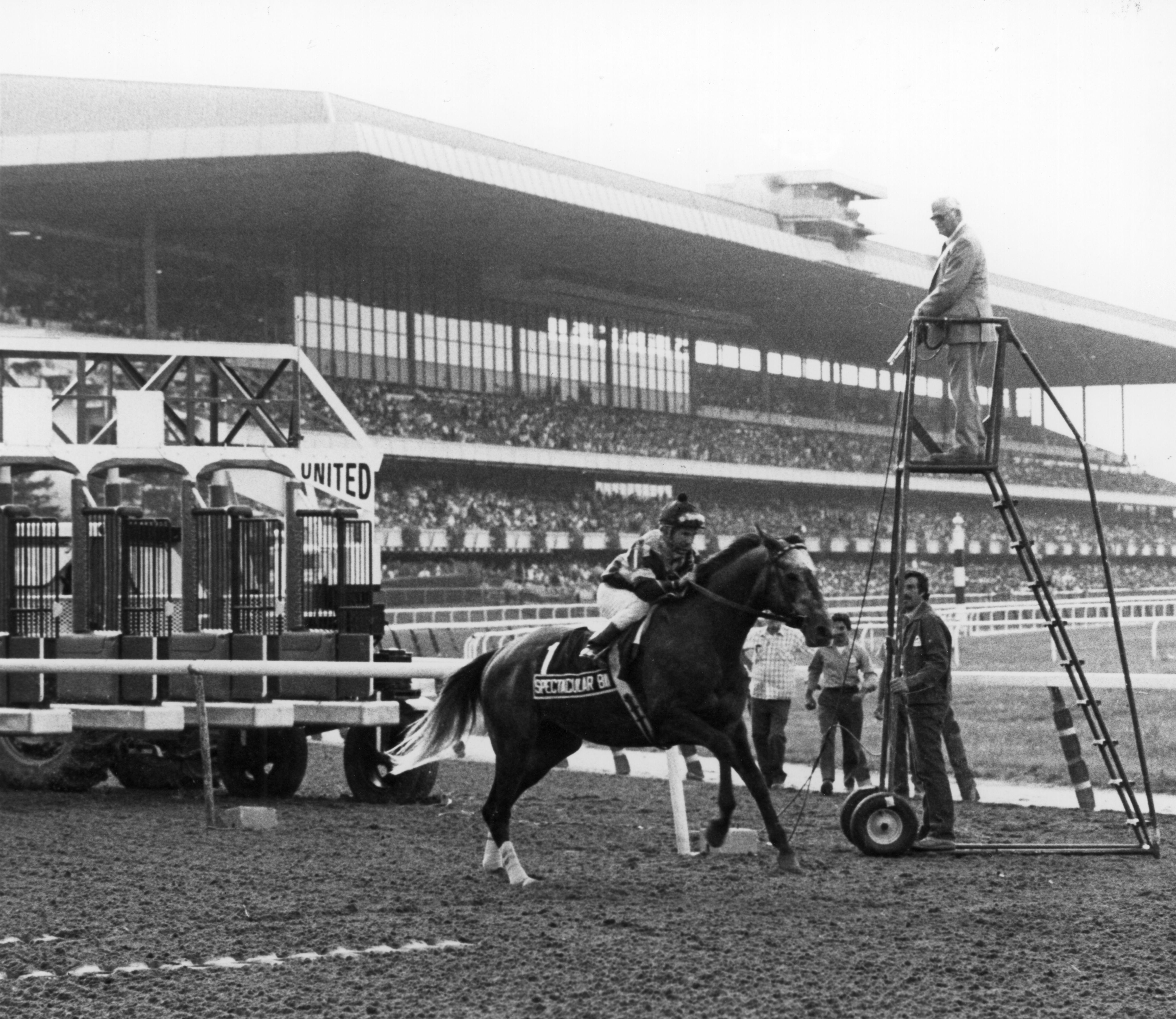 Spectacular Bid at the start of the 1980 Woodward.