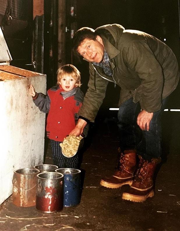 Gattellaro with his dad at the barn