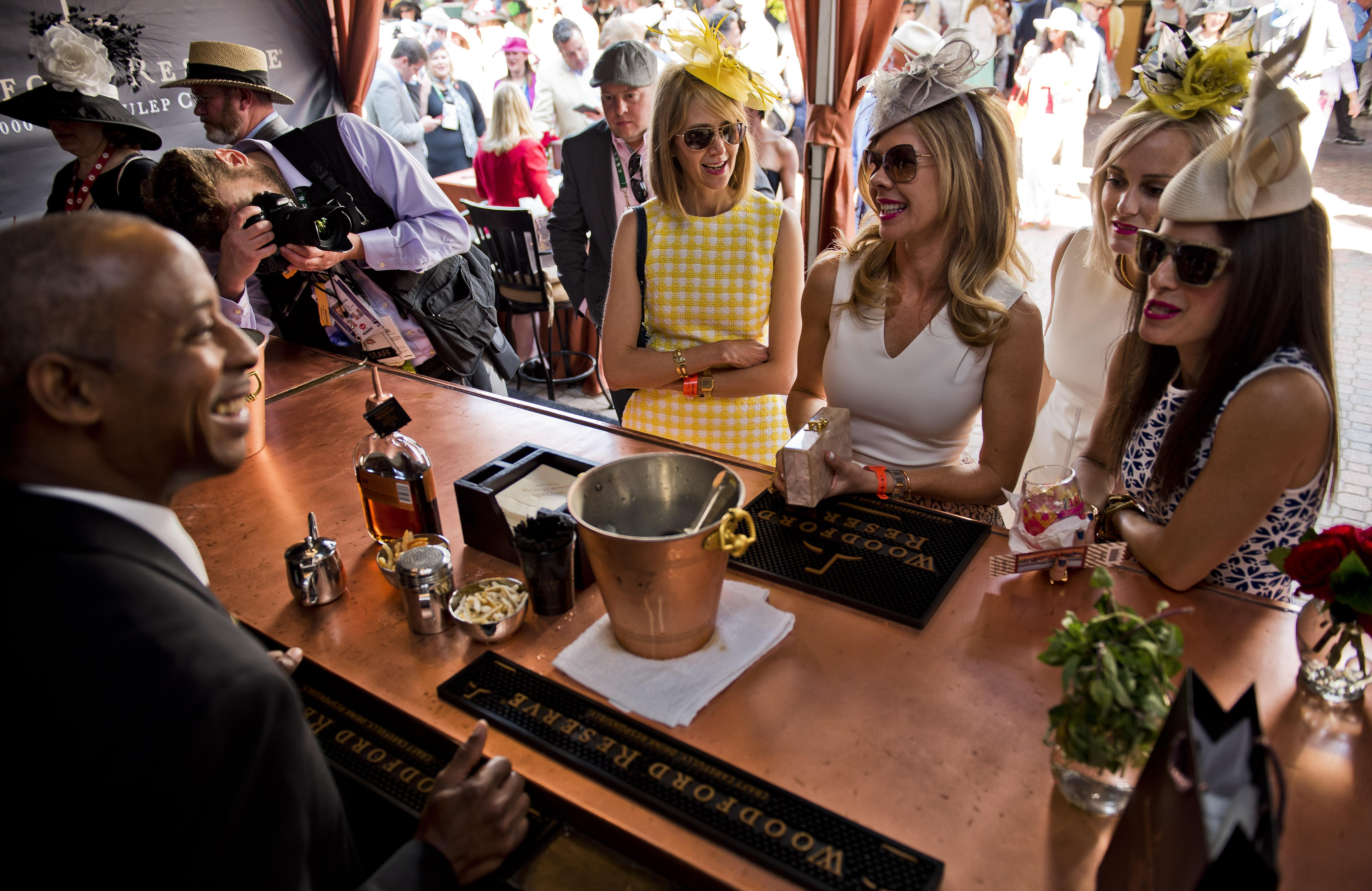 A Woodford Reserve bar at the Kentucky Derby