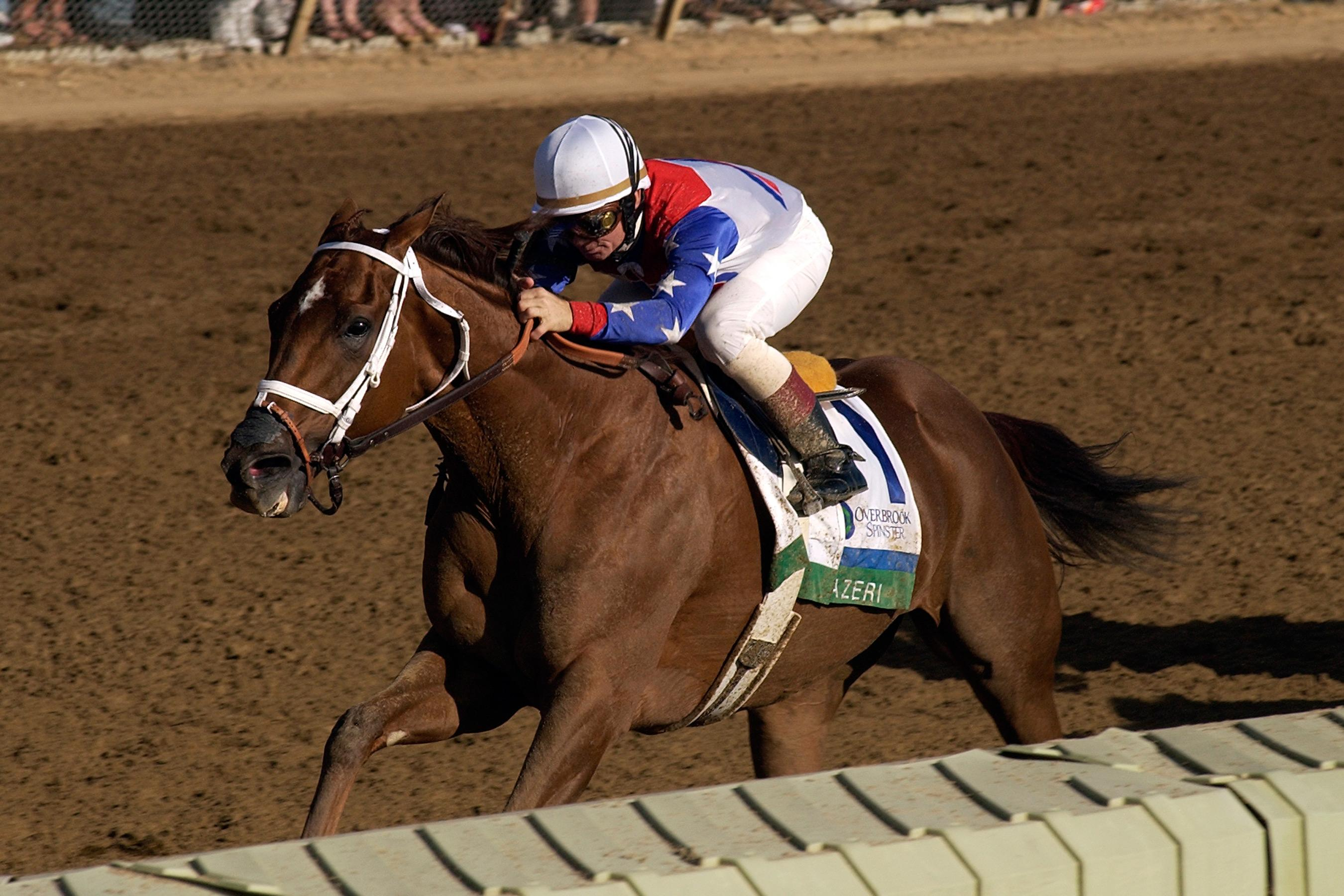 Azeri wins the 2004 Spinster Stakes at Keeneland.