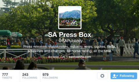 Fifteen Twitter Accounts to Follow for Santa Anita Derby