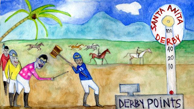 2014 Triple Crown Through Eyes Of Artist Jen Ferguson