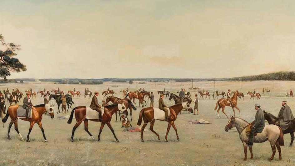 """A Bedford Cottage Trial"" is among the pieces featured in Sunday's Sporting Art Auction at Keeneland."