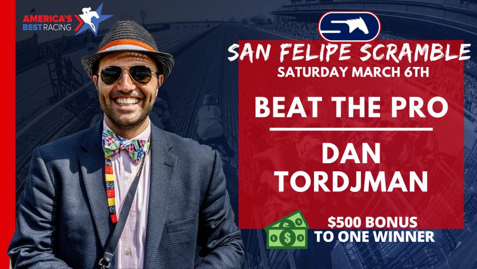 Win a Share of $20,000 on StableDuel Saturday at Santa Anita and Bonus Money for Beating Dan Tordjman