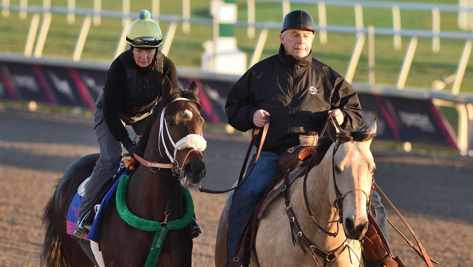 Trainer D. Wayne Lukas (right) and Bravazo are both enthusiastic heading into the Pegasus World Cup on Saturday.