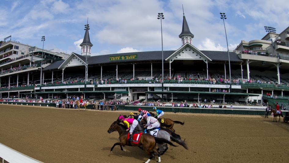 Racing at Churchill Downs, host of the Kentucky Derby.
