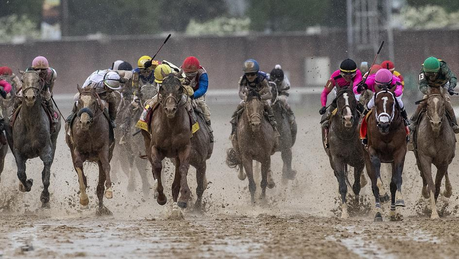 The stretch run of the 2019 Kentucky Derby.