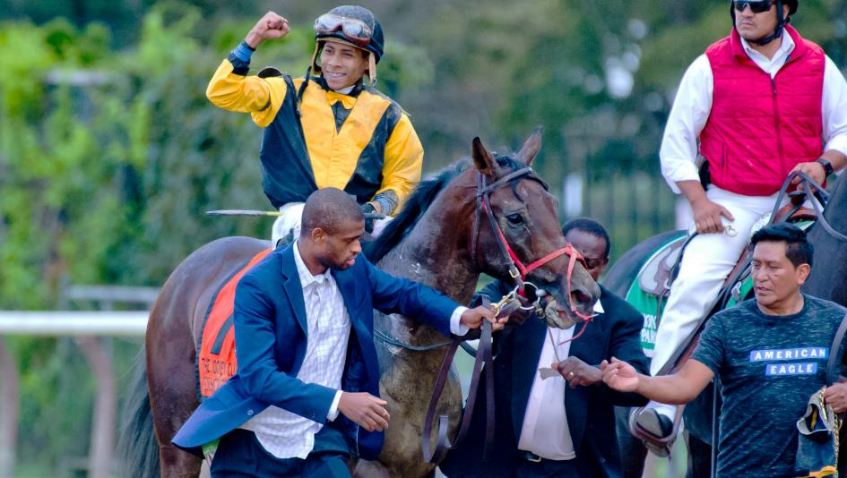 Discreet Lover became his owner/trainer's first Grade 1 winner with his Jockey Club Gold Cup victory.