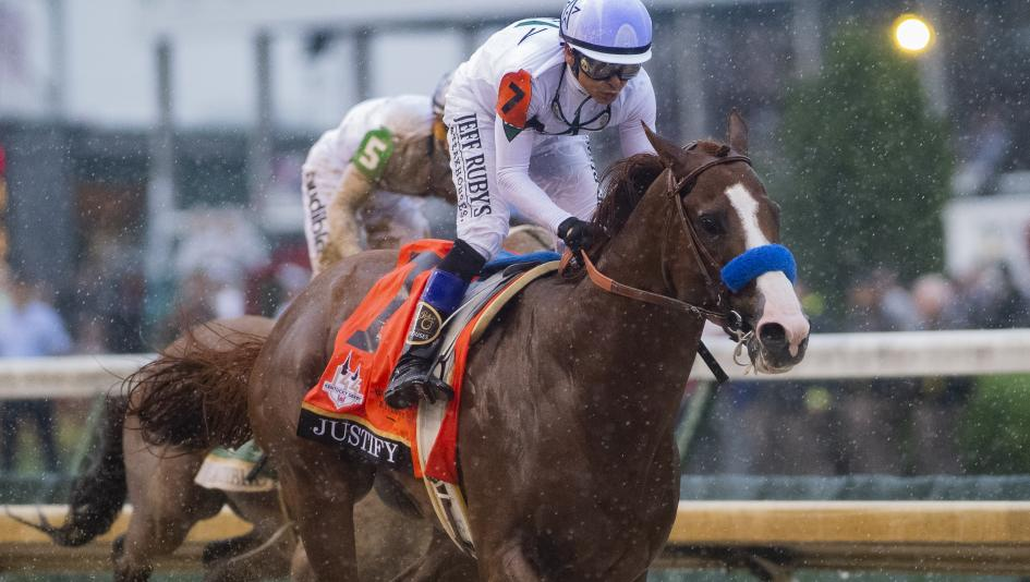 Kentucky Derby winner Justify is the horse to beat in Saturday's Preakness Stakes.