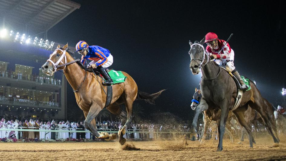 Maximum Security Holds Off Midnight Bisou to Win Inaugural Saudi Cup