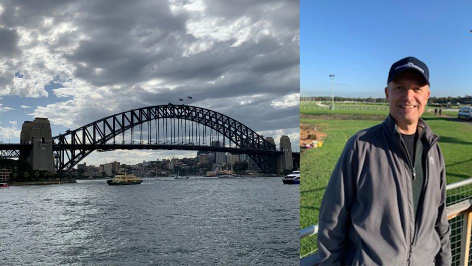 Bob Kasinow and his wife Rita are experiecing Australia this week, including The Championships at Royal Randwick and Harbour Bridge sightseeing.
