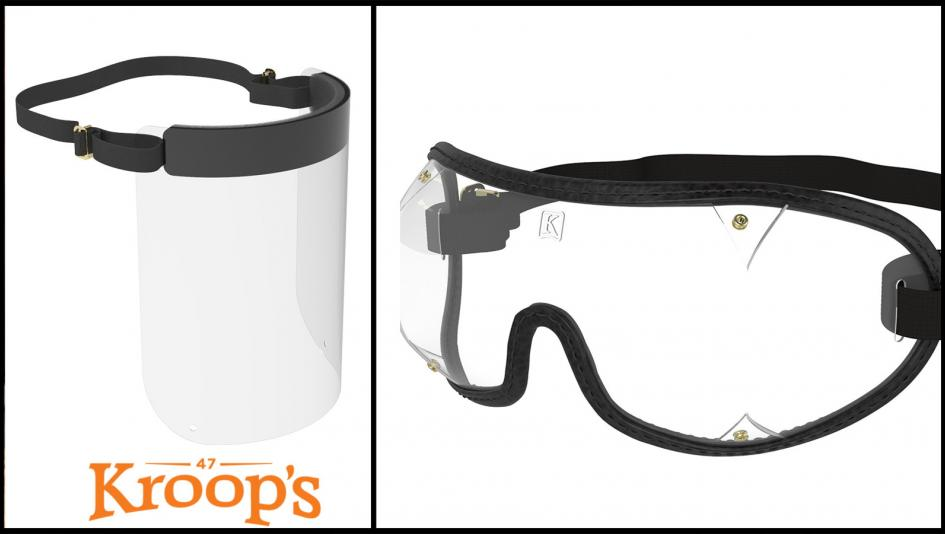 Jockey Goggles Manufacturer Kroop's Begins Production of Face Shields