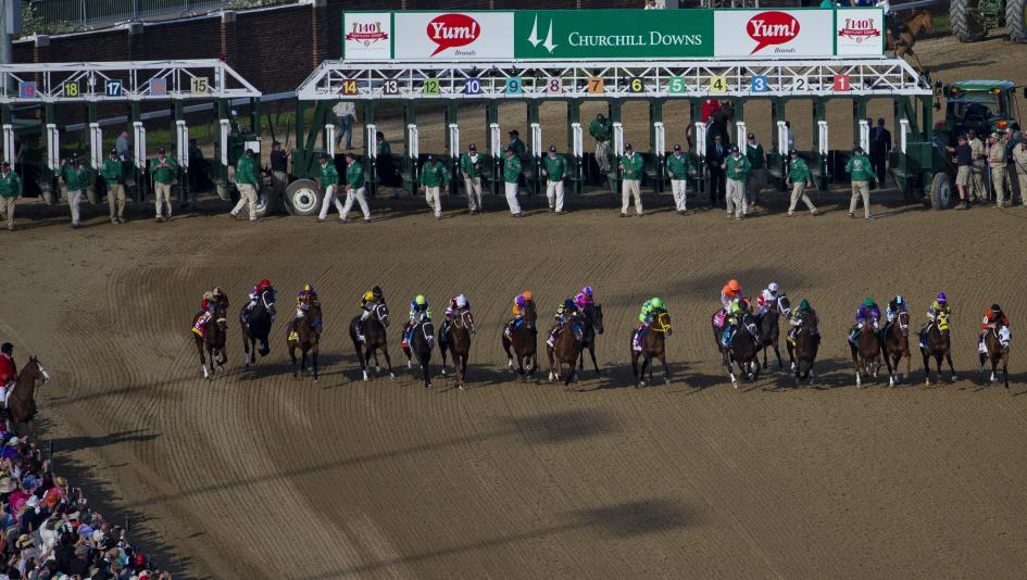 image about Kentucky Derby Post Positions Printable identified as Which Posting Jobs Equivalent Kentucky Derby Results