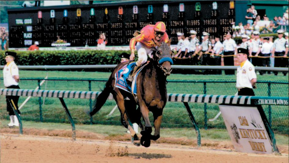 Real Quiet wins the 1998 Kentucky Derby