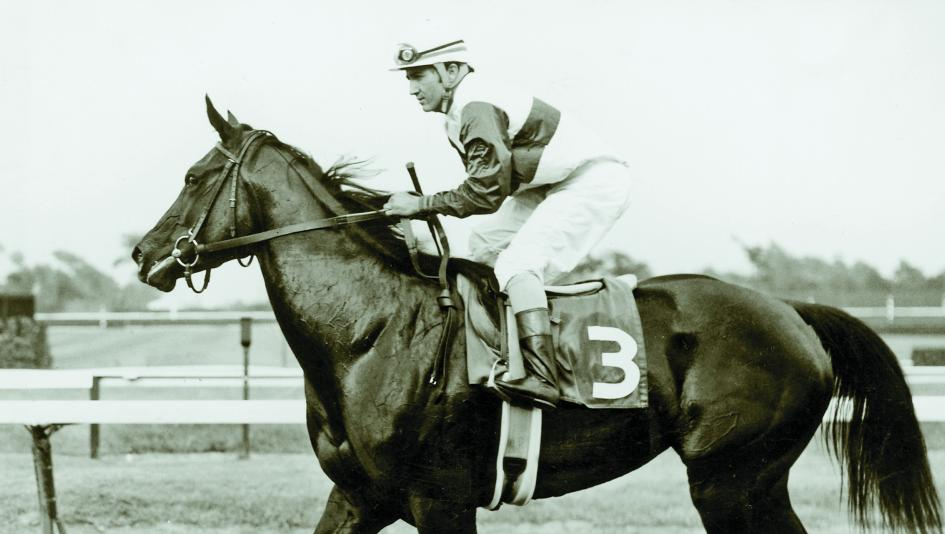 Ruffian and jockey Jacinto Vasquez after winning the 1974 Sorority Stakes at Monmouth Park.