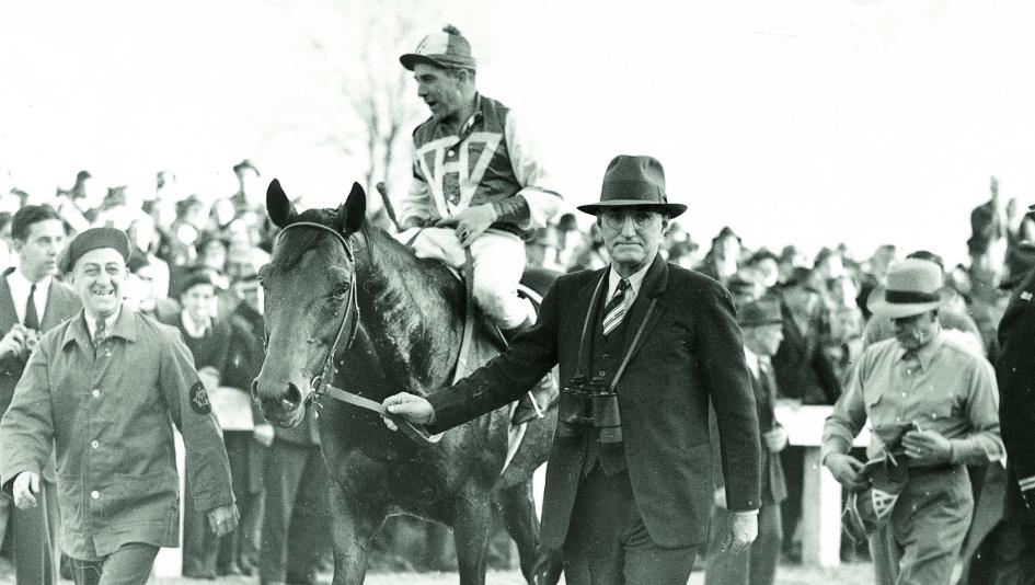 Seabiscuit after defeating Triple Crown winner War Admiral in a Pimlico match race.