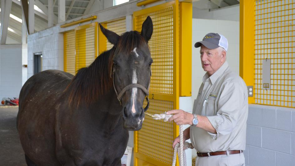 James Sebastian has been working with mares and foals at Claiborne Farm for more than 50 years.