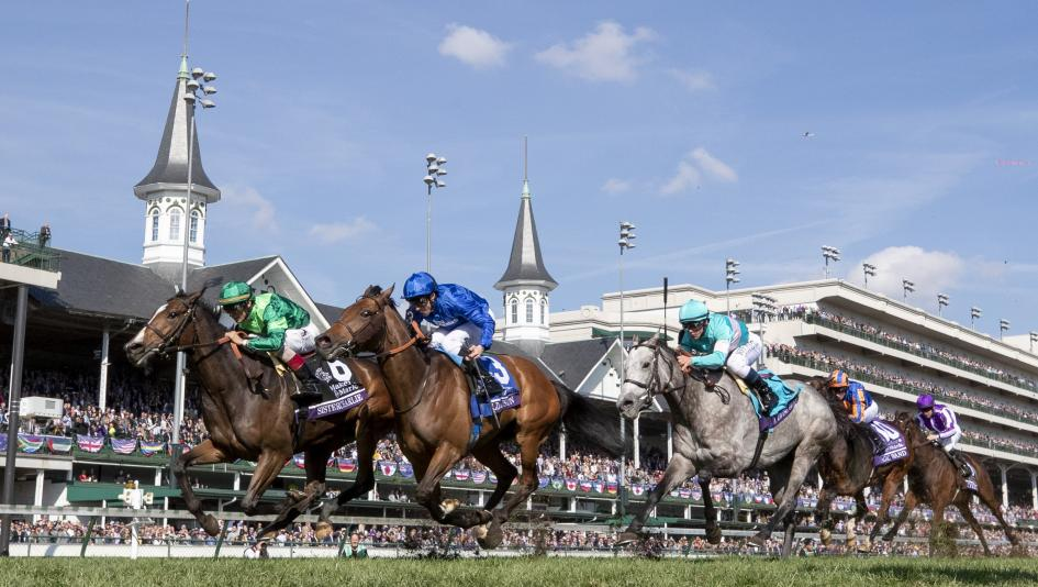 Sistercharlie returns to defend her title in the Maker's Mark Breeders' Cup Filly and Mare Turf this year.