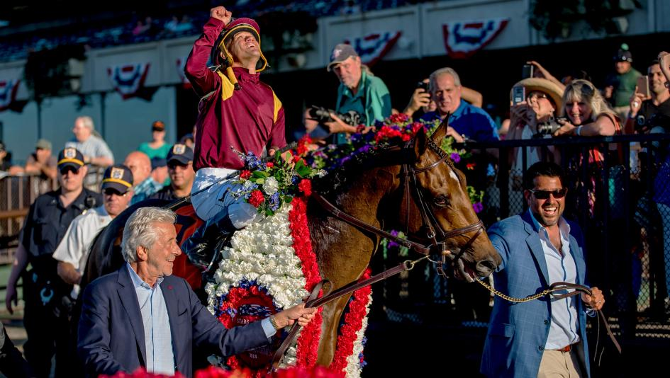 Catholic Boy's Belmont Derby win was a highlight of Stars & Stripes day at Belmont Park.