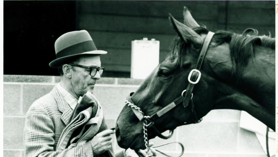 Woody Stephens and Cannonade at the 1974 Kentucky Derby.
