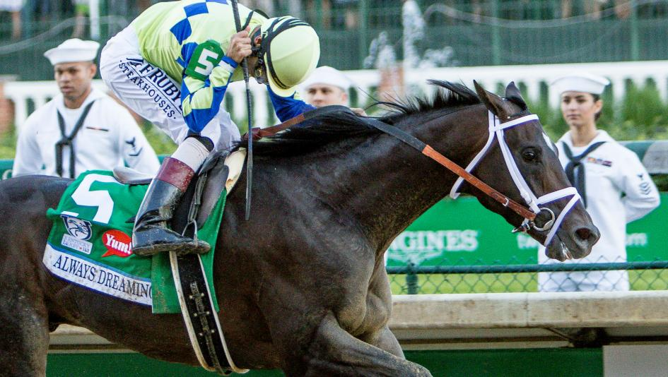 Favourite Always Dreaming wins Kentucky Derby in the mud