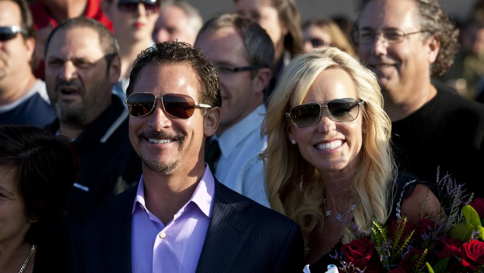 Racehorse owner Jim Rome, pictured with wife Janet, will join the Radio Hall of Fame Nov. 8.