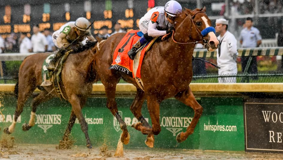 Image result for Justify winning kentucky derby