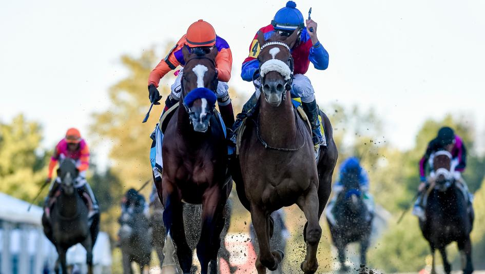 Swiss Skydiver Outduels Derby Winner Authentic in Preakness Thriller