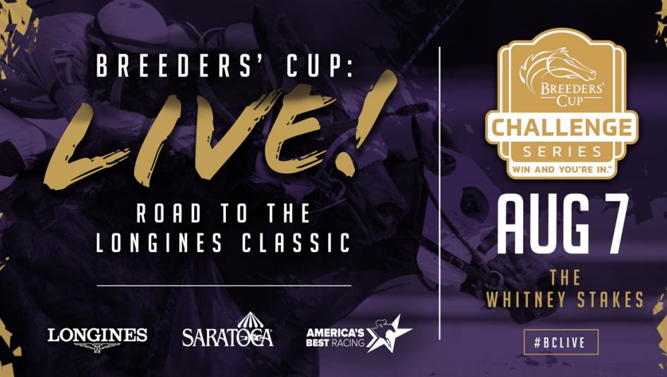 Tune in Saturday to Watch the Whitney Stakes on Breeders' Cup LIVE!
