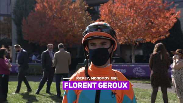 At the Cup: Florent Geroux Chats Monomoy Girl Ahead of Distaff