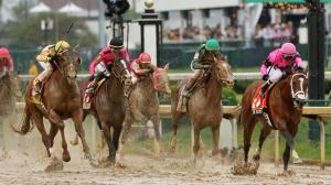 Country House (far left) was named the winner of the Kentucky Derby after Maximum Security (far right) was disqualified.