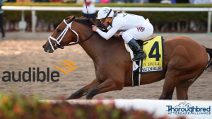 Amazon Company Audible Shows Support for Derby Hopeful Audible, Thoroughbred Aftercare