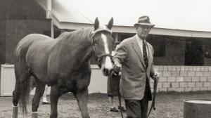 Bull Hancock, pictured with Moccasin, presided over Claiborne Farm during an impressive period of success.